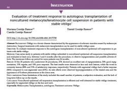 Avaliação Da Resposta Ao Transplante Autólogo De Melanócitos No Tratamento Do Vitiligo. Um Artigo Publicado Em Família !